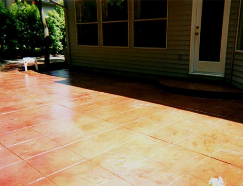 Home Residential Concrete Staining and Stamping Patio
