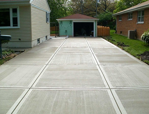 Home Residential Concrete Driveway Broom Technique